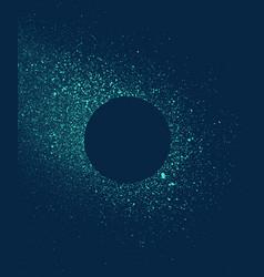 Graffiti sprayed circular frame in blue tones vector