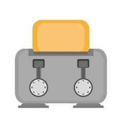 gray toaster breakfast appliance house vector image