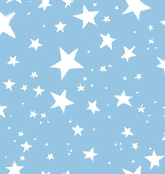 Hand drawn stars pattern vector image
