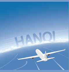 Hanoi flight destination vector