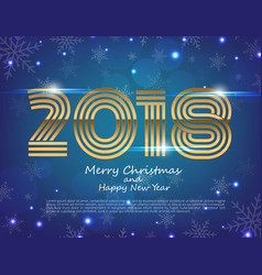 Happy new year 2018 text design greeting vector
