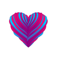 heart with ribbons for valentine vector image