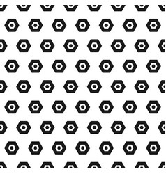 Hexagon black and white seamless abstract pattern vector
