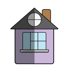 House with roof and window vector