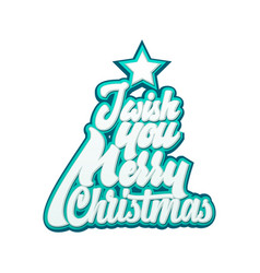 I wish you merry christmas lettering and vector