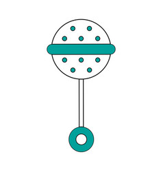 isolated maraca design vector image