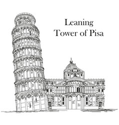 leaning tower pisa vector image