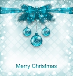 Light Background with Christmas Traditional vector image