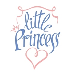 Little Princess lettering for girl t-shirt vector image