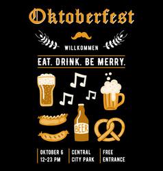 oktoberfest design template for invitation vector image