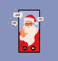 online congratulation app christmas concept vector image