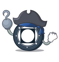 Pirate byteball bytes coin character cartoon vector