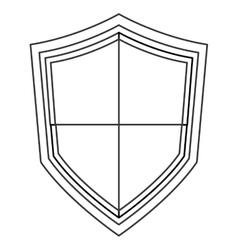 Pointy shield icon vector