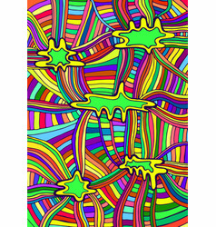 rainbow colorful abstract pattern line of vector image