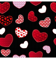 Red and Black Love Valentins Day Seamless Pattern vector