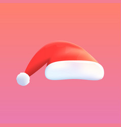 red hat of santa claus isolated on vector image