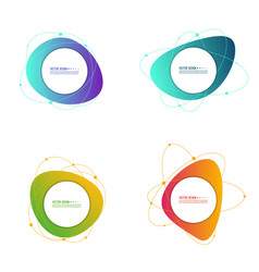 set gradient banners vector image