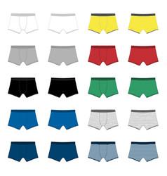 Set men underpants boxer shorts isolated man vector