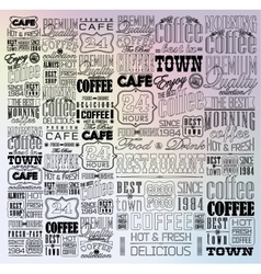 Set Of Vintage Retro Coffee vector image
