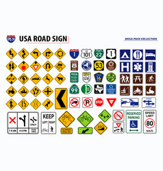 set usa street sign easy to modify vector image