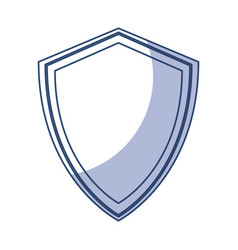 shadow shield cartoon vector image vector image