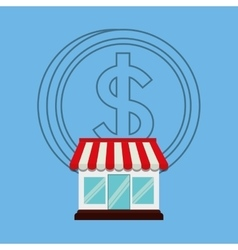 Shopping market store vector