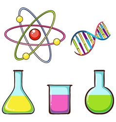 Simple coloured sketches of lab samples vector