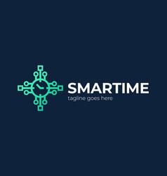 Smart watch logo watch application logo vector