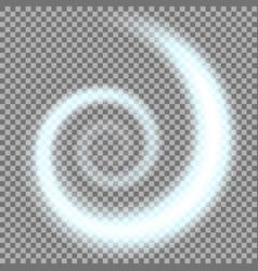 spiral of light aqua color vector image