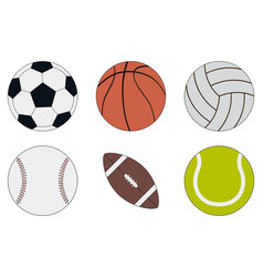 sports balls icon set vector image