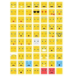 Square Emoticons set vector