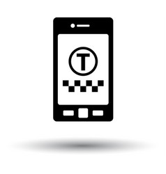 Taxi service mobile application icon vector