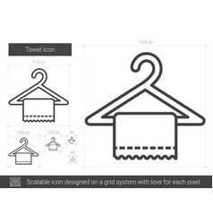 Towel line icon vector