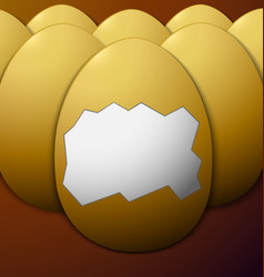 Unshelled eggs in the middle brown background vector