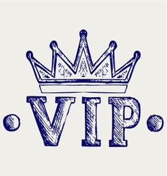 Vip crown symbol vector image