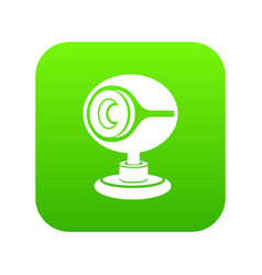 web camera icon green vector image