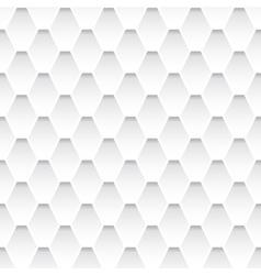 White seamless rhombus pattern vector image