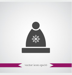 Winter hat icon simple vector