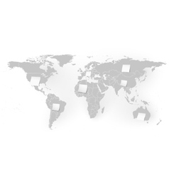 World map with white note papers background vector image