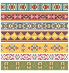 Ancient geometric native american tribal graphics vector image