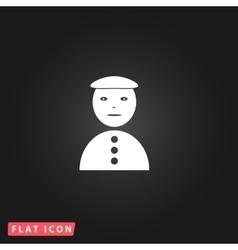 Asian man icon vector image