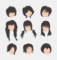 Beautiful style avatars fashion look set vector image