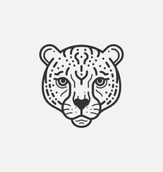 Cheetah head vector image vector image