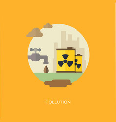 pollution flat banner vector image vector image