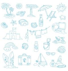 Seaside and Summer - design elements vector image