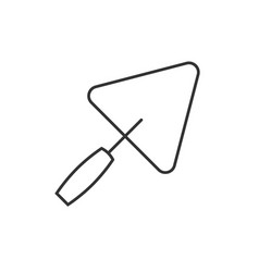 trowel outline icon vector image