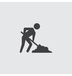 Digging man icon vector image