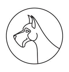 Linear emblem with dog vector image