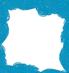 Seamless wave hand-drawn pattern waves vector image