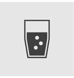 Water glass icon vector image vector image